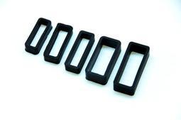 18mm矽膠表帶圈,錶圈,錶帶環可替代casio jaga seiko等同規格電子錶,造型錶,石英錶.......之錶圈
