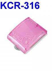 愛批發【可刷卡】KINYO KCR-316 Mini 多合一 讀卡機-粉【線4.6公分-四卡槽】炫藍LED 讀取顯示燈