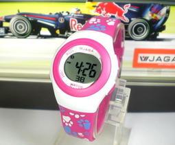 地球儀鐘錶 JAGA 冷光電子錶 QQ糖系列 超人氣 炫麗 生日禮 上班族 學生 兒童電子錶【↘420】M1062桃紅