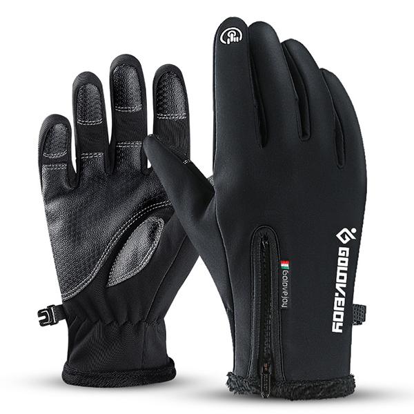 防風防水觸控手套|秋冬騎士必備加絨款(黑色/灰色)