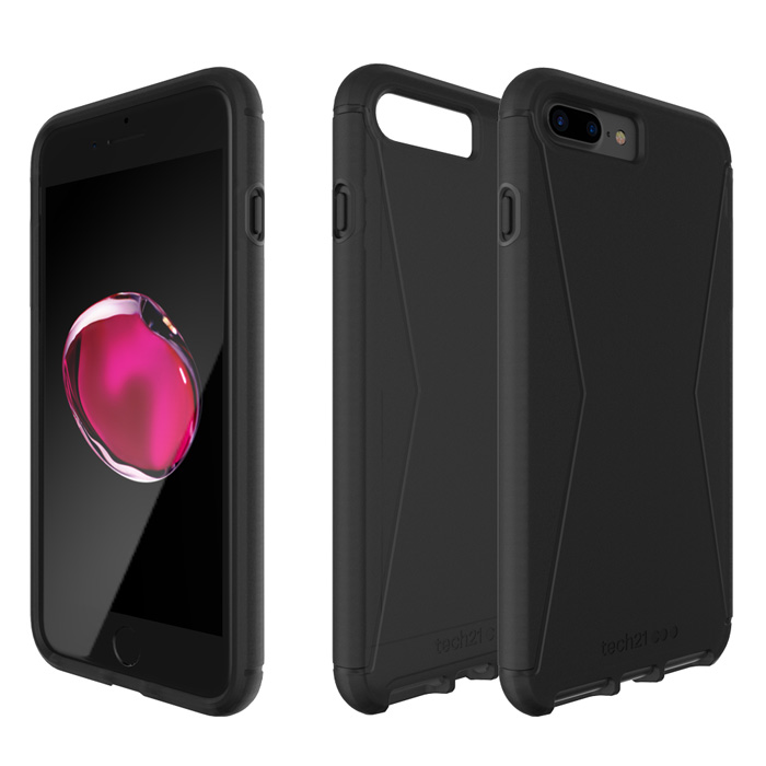 Tech21 英國超衝擊 Evo Tactical iPhone 7 Plus 防撞軟質保護殼 - 透黑
