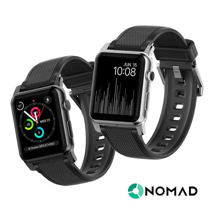 美國NOMAD (Apple Watch專用超堅固矽膠錶帶)銀