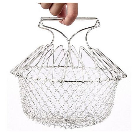【AKWATEK】萬用304不鏽鋼廚師籃-特賣