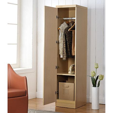 特賣↘【德萊妮】DIY時尚單門衣櫃/櫥櫃(白橡色)