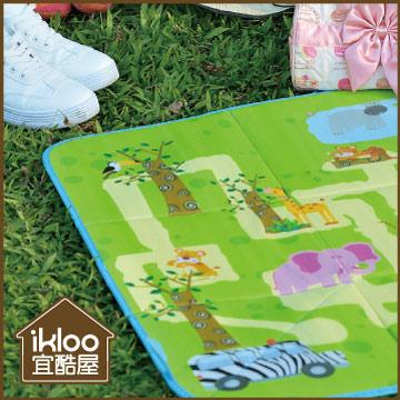 【ikloo】樂活可提式收納野餐墊/玩具墊-特價