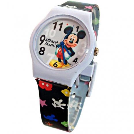 【迪士尼】歡樂聖誕米奇休閒運動錶-黑(D-4193)