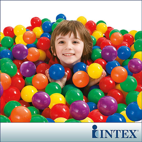 【INTEX】100顆遊戲球-直徑6.5cm(49602)