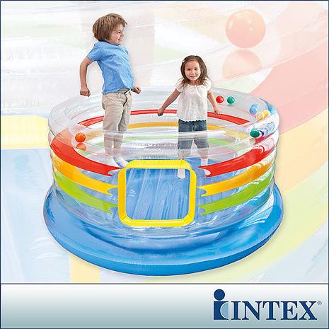【INTEX】充氣式兒童跳跳床-多彩圓型-寬182cm(48264)