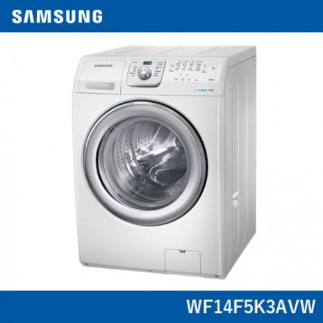 回函贈★《夜間下殺白天消失》【Samsung三星】原裝進口14KG洗脫滾筒洗衣機WF14F5K3AVW/TW