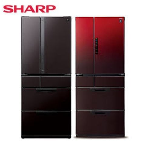 回函贈★【SHARP夏普】601公升六門對開環保冰箱 SJ-GF60X-R/SJ-GF60X-T(CP值超越RG520HJ RG570HJ RG620HJ RS57HJ RSF62J)黑鑽棕