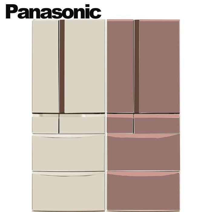 Panasonic 國際牌 日本原裝601L六門無邊框頂級變頻冰箱 NR-F602VT-R1/NR-F602VT-N1(不參加原廠贈品活動)香檳金
