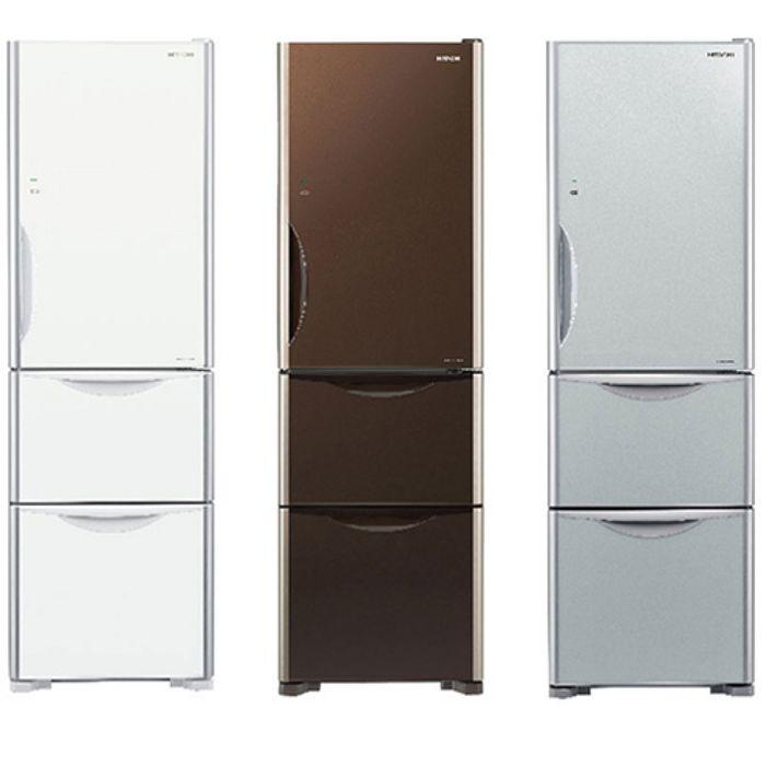 回函贈★【HITACHI 日立】 331公升變頻三門電冰箱 RG36A琉璃白