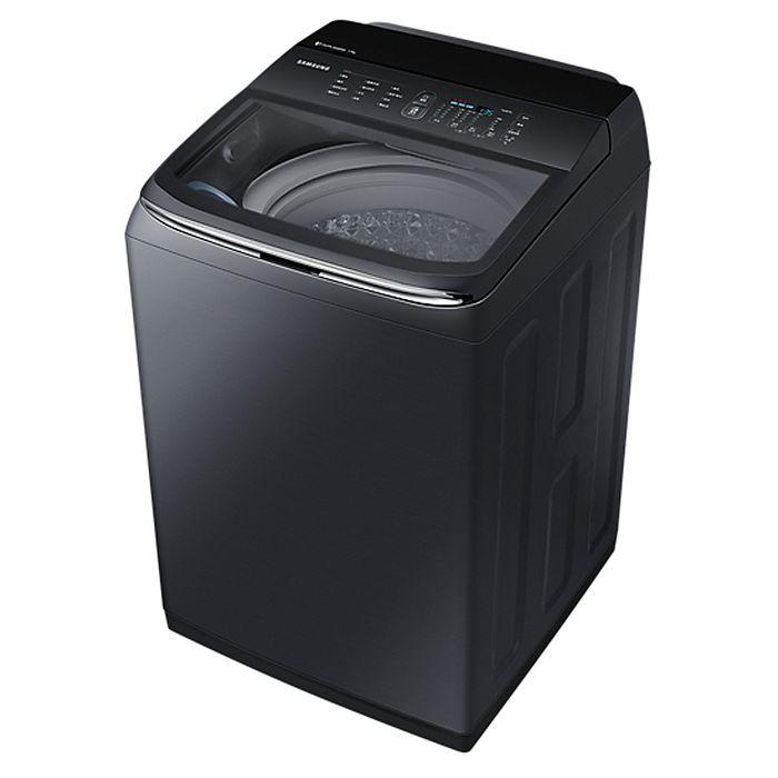 回函贈★Samsung 三星 17KG 智慧觸控洗衣機-奢華黑 WA17M8100GV/TW
