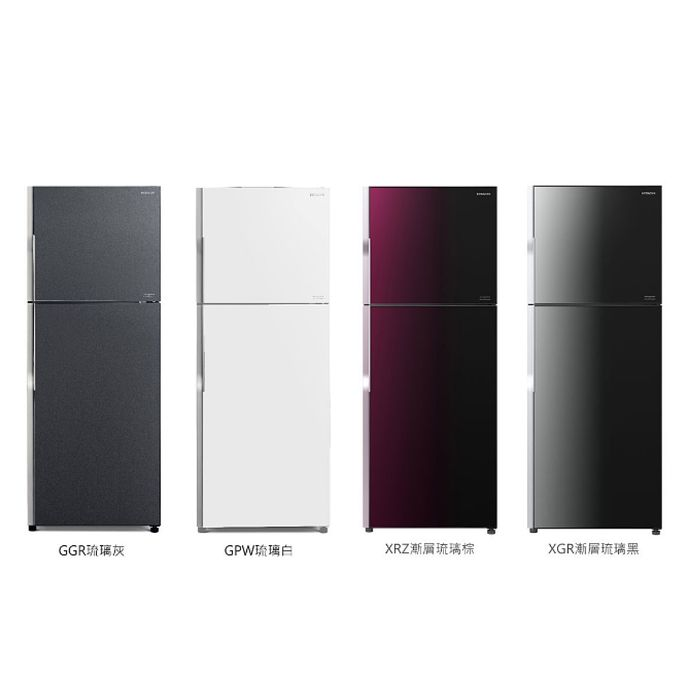 【HITACHI 日立】381L變頻兩門琉璃冰箱 RG399漸層琉璃黑