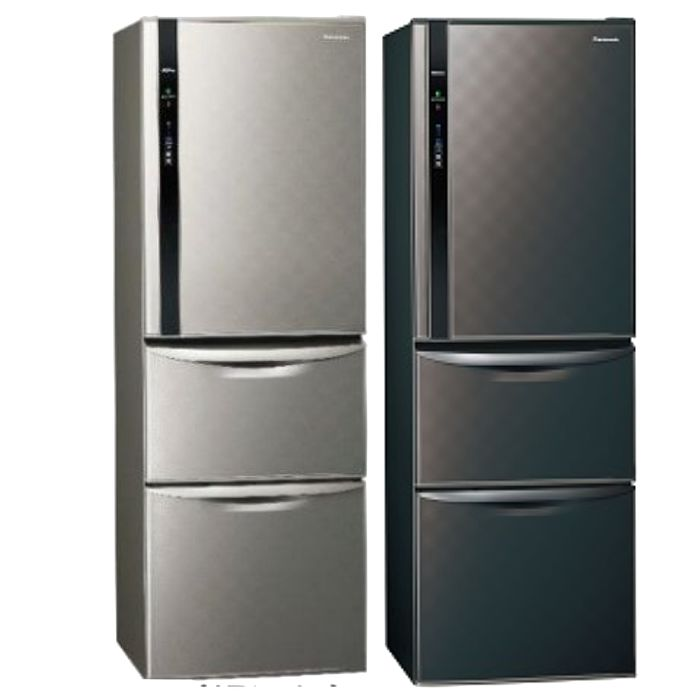 Panasonic國際牌變頻三門電冰箱385公升NR-C389HV-S/NR-C389HV-K銀河灰