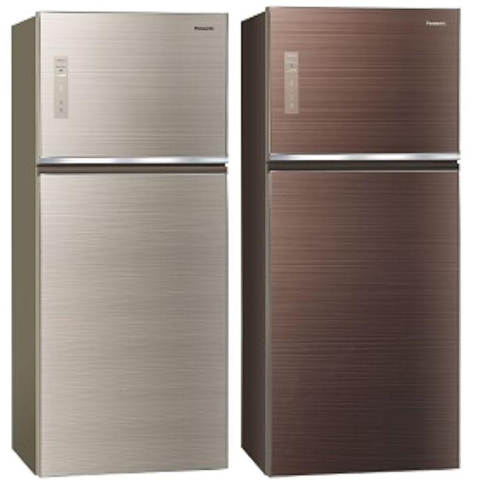 Panasonic國際牌變頻雙門電冰箱(玻璃面無邊框) 422公升NR-B429TG-N/NR-B429TG-T(不參加原廠贈品活動)翡翠金