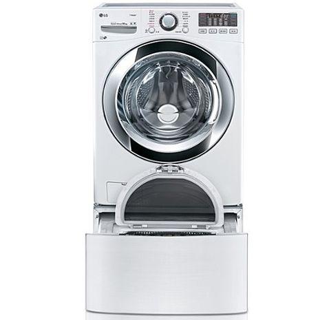 回函贈【LG樂金】18+2.5公斤雙能 洗蒸洗脫洗衣機(WD-S18VBW+ WT-D250HW) TWINWash 授權