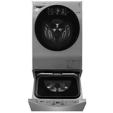LG 樂金 12+2公斤雙能洗蒸洗脫烘(典雅銀 )WD-S12GV+WT-D200HV TWINWash