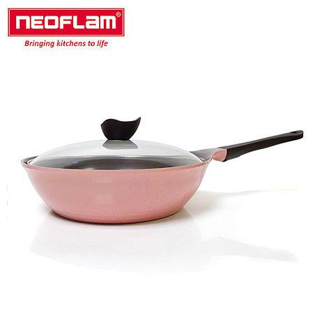 【韓國NEOFLAM】Aeni系列28cm炒鍋(玻璃蓋/電磁爐底)