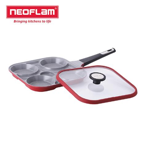【韓國NEOFLAM】Steam Plus Pan烹飪神器&玻璃蓋 四格鍋一次搞定四種料理