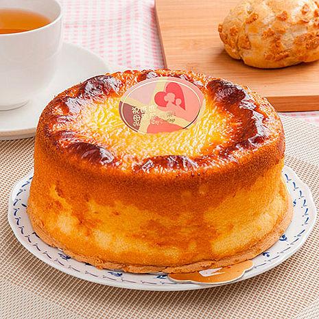 【樂活e棧】生日快樂造型蛋糕-岩燒起司蜂蜜蛋糕(6吋/顆共1顆)