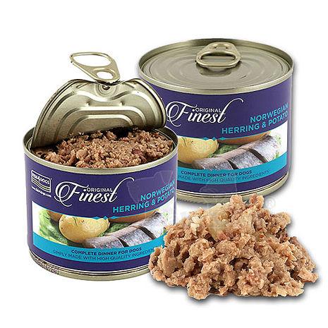 【海洋之星FISH4DOGS】挪威鯡魚馬鈴薯主食犬罐185g/2罐