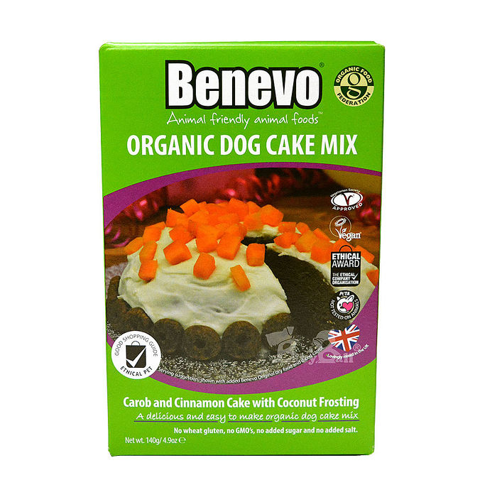 【Benevo 倍樂福】英國素食動手做狗狗有機蛋糕140g