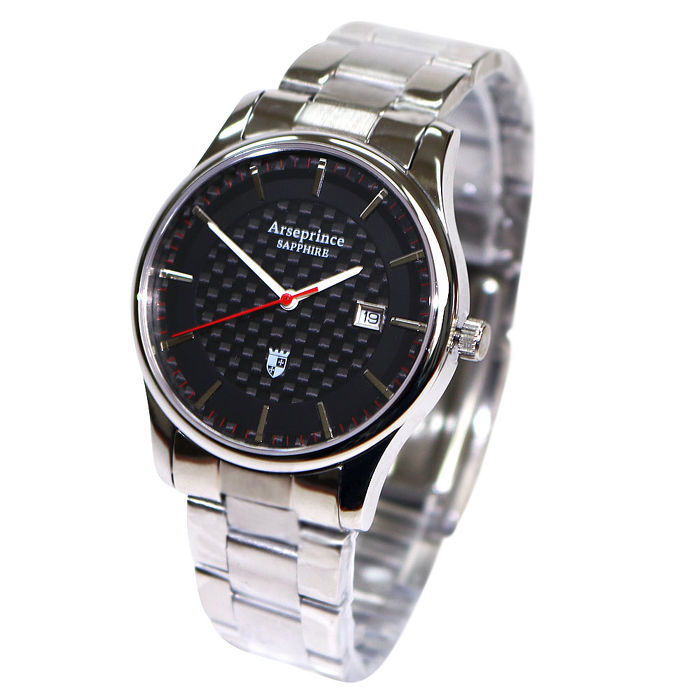 【Arseprince】碳纖科技時尚風潮中性錶-黑色