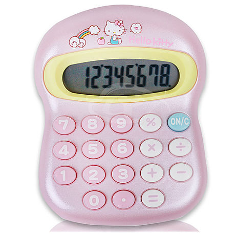 【E-MORE】Sanrio饅頭系列-Hello Kitty 8位數計算機-粉色