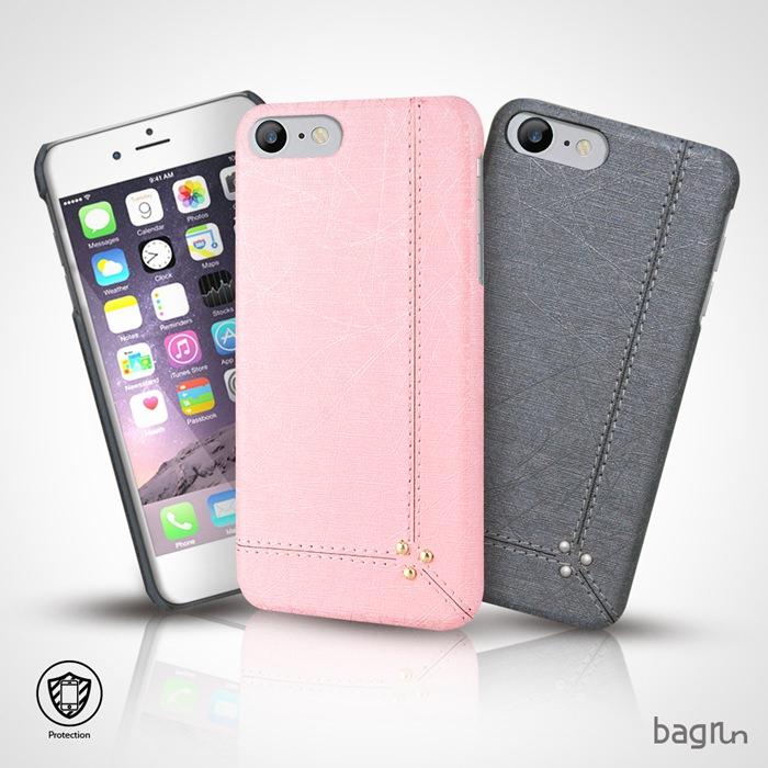 【Bagrun】iPhone 8/7 Plus 5.5吋 流金歲月手機保護背蓋灰色