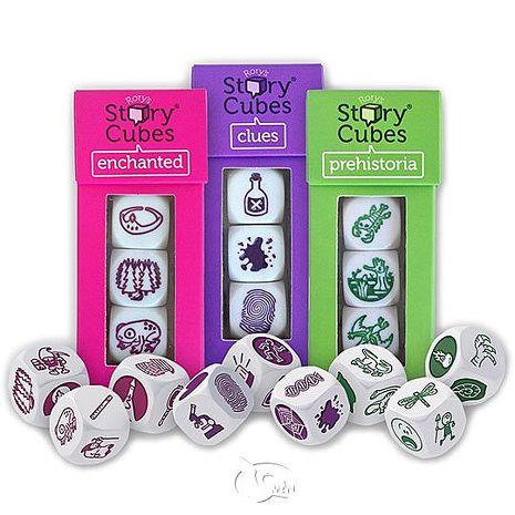 【新天鵝堡桌遊】故事骰套裝組合(小)-偵探+魔法+上古 Rorys's Story Cubes Set Small (CLU, ENC, PRE)