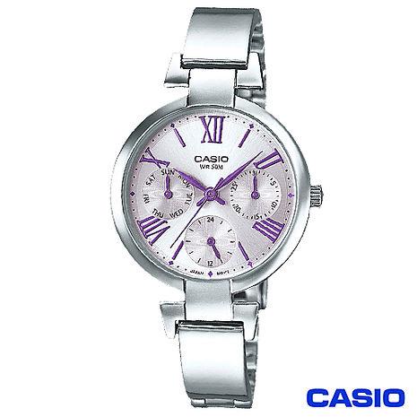 CASIO 簡約羅馬刻度氣質腕錶 LTP-E404D-6A
