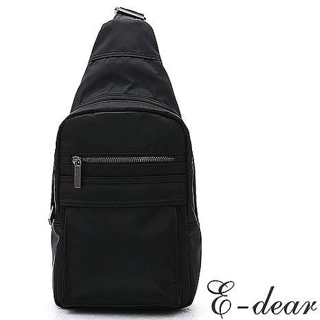 E-DEAR 依迪爾輕量尼龍單肩包 率性黑