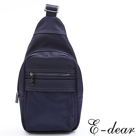 E-DEAR 依迪爾輕量尼龍單肩包 學院藍