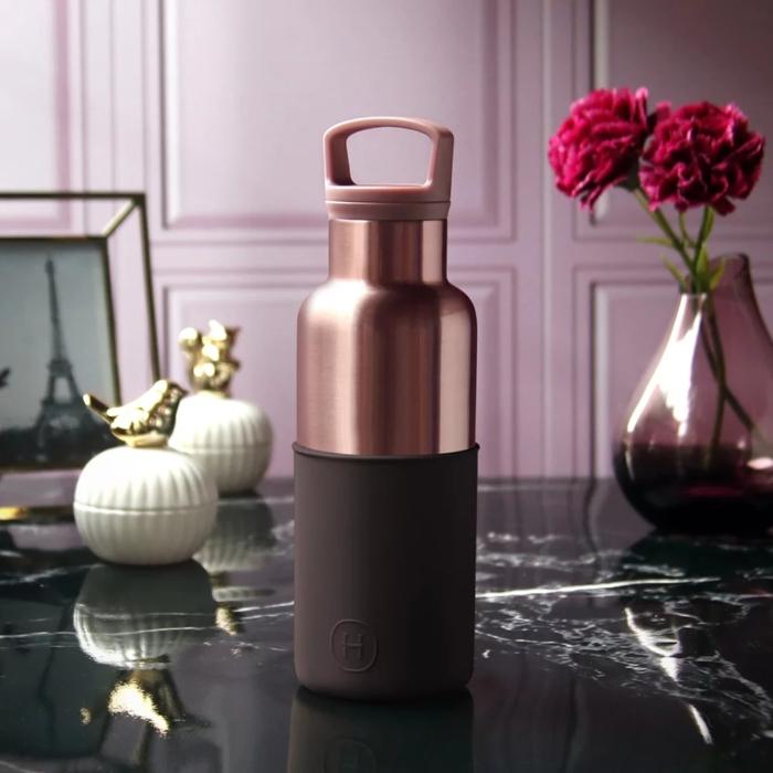 【美國 HYDY】 時尚保溫水瓶-櫻桃紅-蜜粉金瓶 480ML