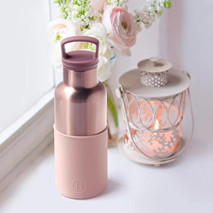【美國 HYDY】 時尚保溫水瓶-拿鐵-蜜粉金瓶 480ML