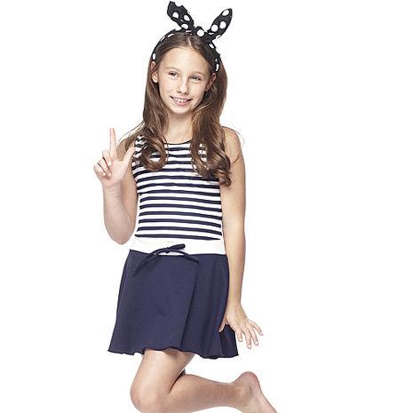 【SARBIS】MIT泡湯SPA中童連身裙泳裝附泳帽B88417L
