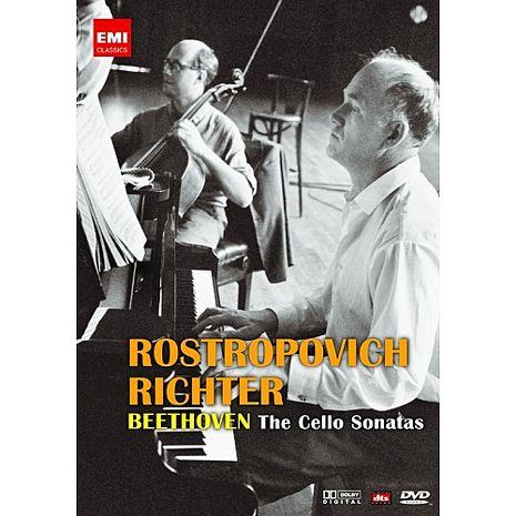 【麗音影音】羅斯托波維奇、李希特-貝多芬大提琴奏鳴曲全集 (平裝版) DVD