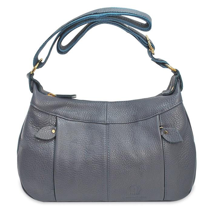 Dennibella 丹妮貝拉 - 日本薰衣草系列 - 斜背包 側背包 日系甜心半月包 - 灰藍色