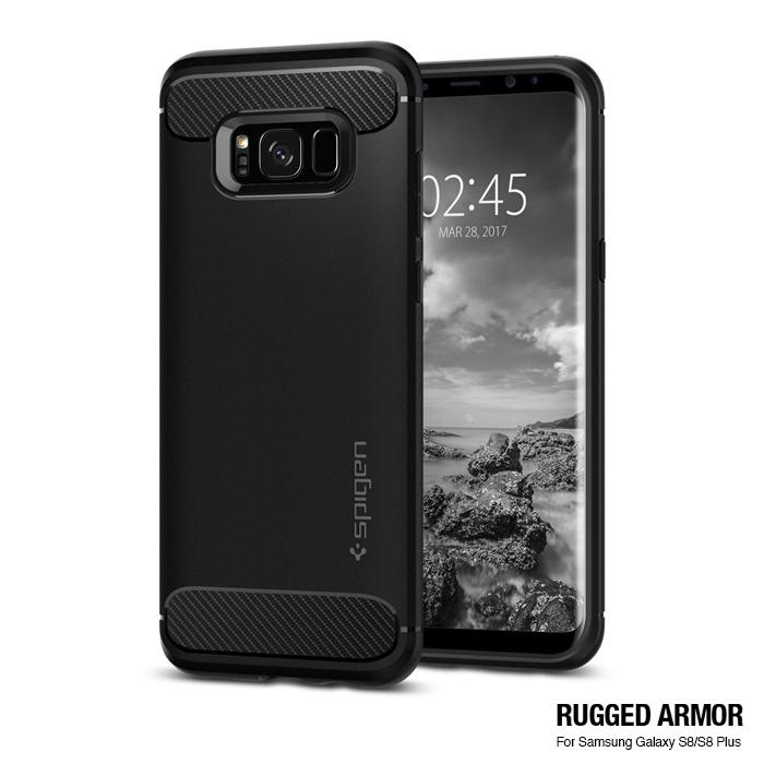 spigen Galaxy S8 Rugged Armor-彈性防震保護殼黑