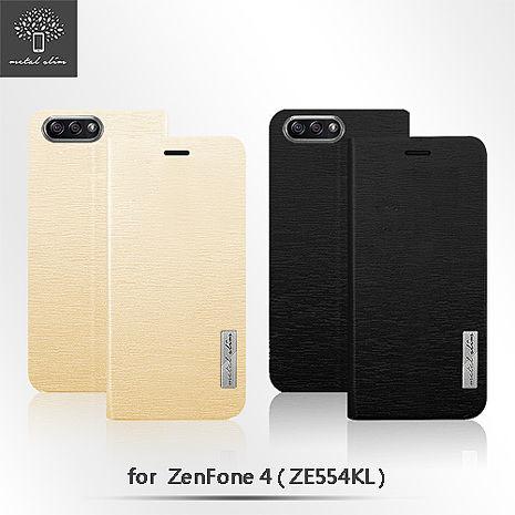 Metal-Slim ASUS ZenFone 4 (ZE554KL) 流星紋TPU站立皮套金
