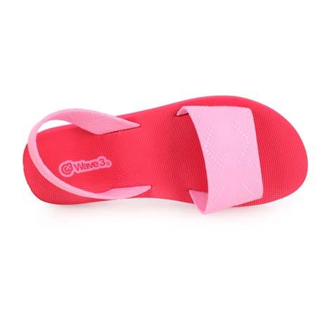 【WAVE3】女瑜珈墊涼鞋-拖鞋 台灣製 紅粉紅L
