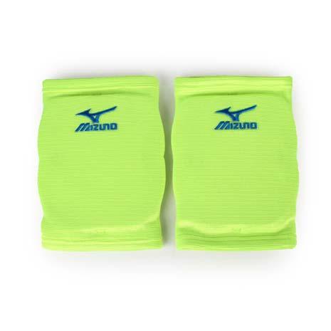 【MIZUNO】運動用排球護膝 -成人用護膝 防撞護膝 美津濃 螢光綠藍L