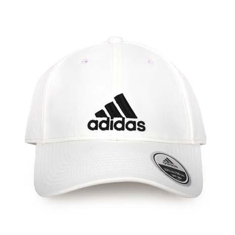 【ADIDAS】運動帽-帽子 鴨舌帽 防曬 愛迪達 白黑F