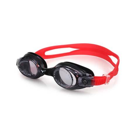 【MIZUNO】SWIM 泳鏡 -蛙鏡 游泳 競賽 抗UV 防霧 黑紅F