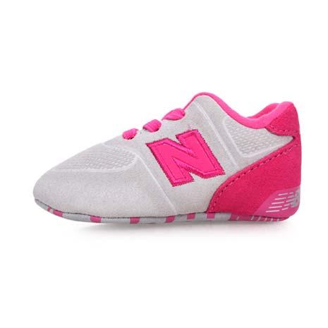 【NEWBALANCE】574系列 男女嬰兒運動鞋-WIDE-NB N字鞋 童鞋 淺灰粉紅8.5