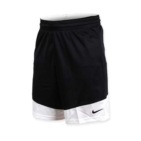 【NIKE】男籃球針織短褲-路跑 慢跑 訓練 五分褲 黑白L