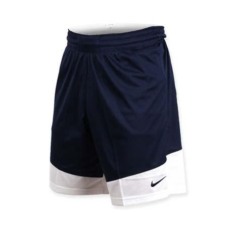 【NIKE】男籃球針織短褲-路跑 慢跑 訓練 五分褲 深藍白L