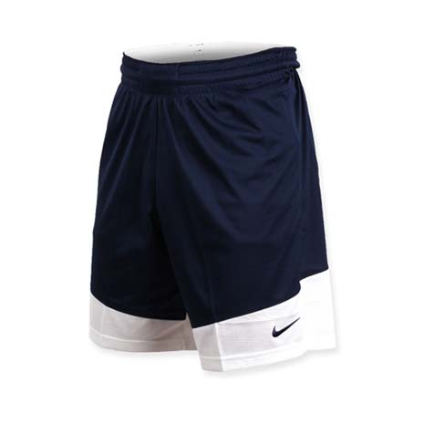 【NIKE】男籃球針織短褲-路跑 慢跑 訓練 五分褲 深藍白2XL