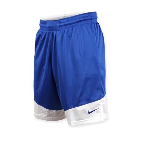【NIKE】男籃球針織短褲-路跑 慢跑 訓練 五分褲 藍白2XL